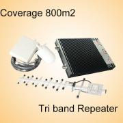GSM900 1800 3G tri band cell phone signal booster